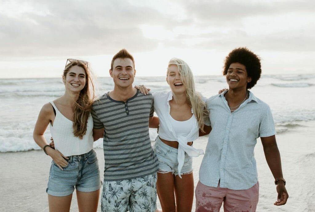 Happy days with friends