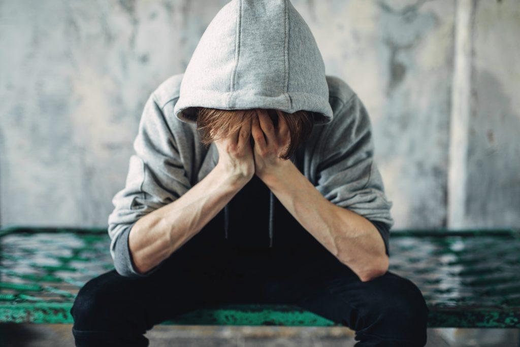 man experiencing withdrawal